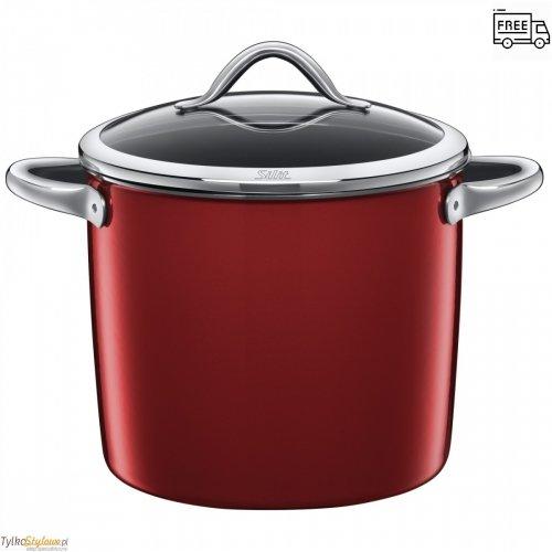 Garnek Silit Vitaliano Rosso - do gotowania warzyw 24 cm-8.5 L