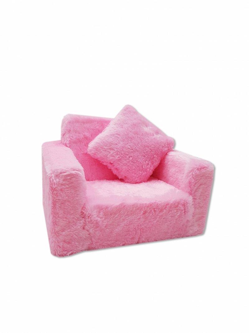 Fotel rozkładany dla dzieci- Różowy