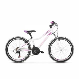 Rower Kross Lea Junior 24 biały-różowy-fioletowy