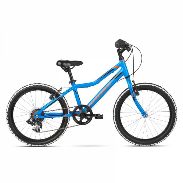 """Rower Kross Hexagon Mini 20"""" niebieski-pomarańczowy"""