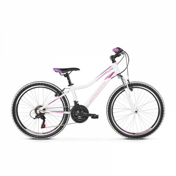 """Rower Kross Lea Junior 24"""" biały-różowy-fioletowy"""