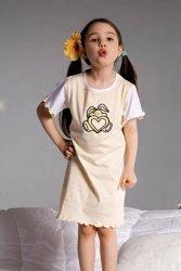 Piżamka dziewczęca Ami 2981 żółta
