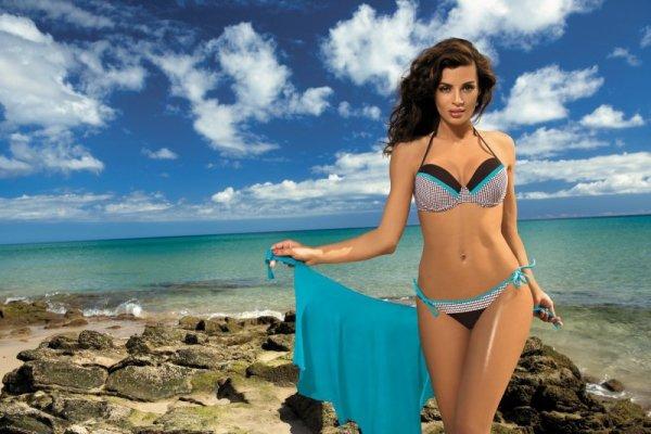 Kostium kąpielowy Wendy Seppia M-293 brązowo-turkusowy (71)