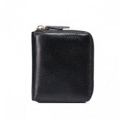 Zgrabny elegancki portfel Czarny
