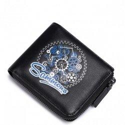 SAMMONS Krótki portfel z odznaką Czarny