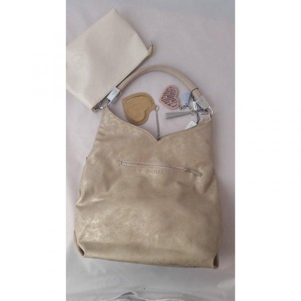 Urocza torebka w kolorze beżowym CHIARA
