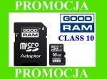 Karta pamięci GOODRAM microSDHC 16GB CL10 + ADAPTER SD