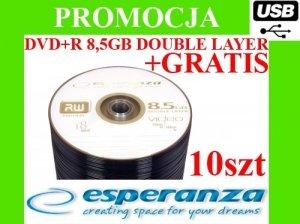 PŁYTY DVD+R DL 8.5GB ESPERANZA 10szt do gier +GRATIS