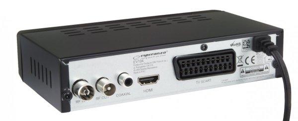 DEKODER TUNER CYFROWY DVB-T TV HD MPEG-4 EV104