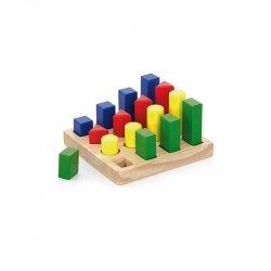Klocki Drewniane Nauka Kształtów Kolorów Viga