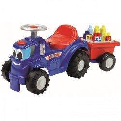 Ecoiffier Abrick Jeździk Traktor z Przyczepką z Klockami