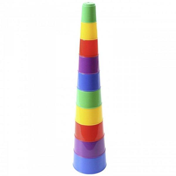 Wieża piramidka układanka Edukacyjna 10 Kubeczków