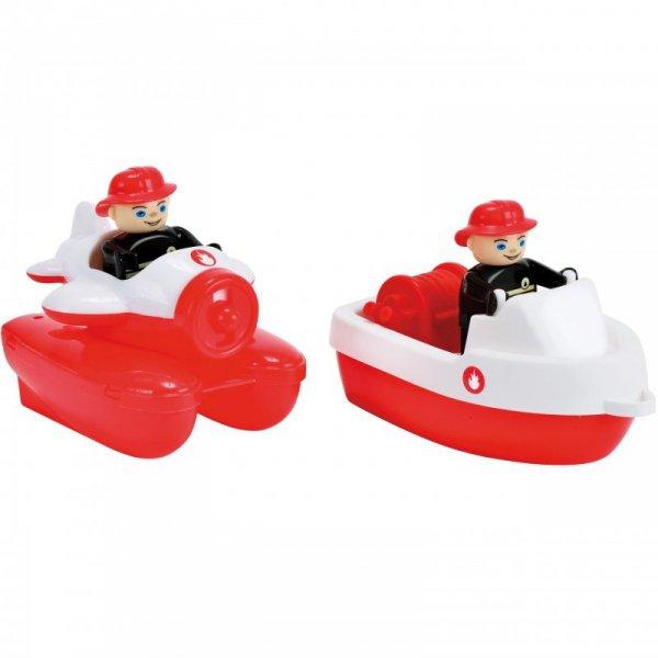 BIG Waterplay Zestaw Łódek Straż + 2 figurki ratowników