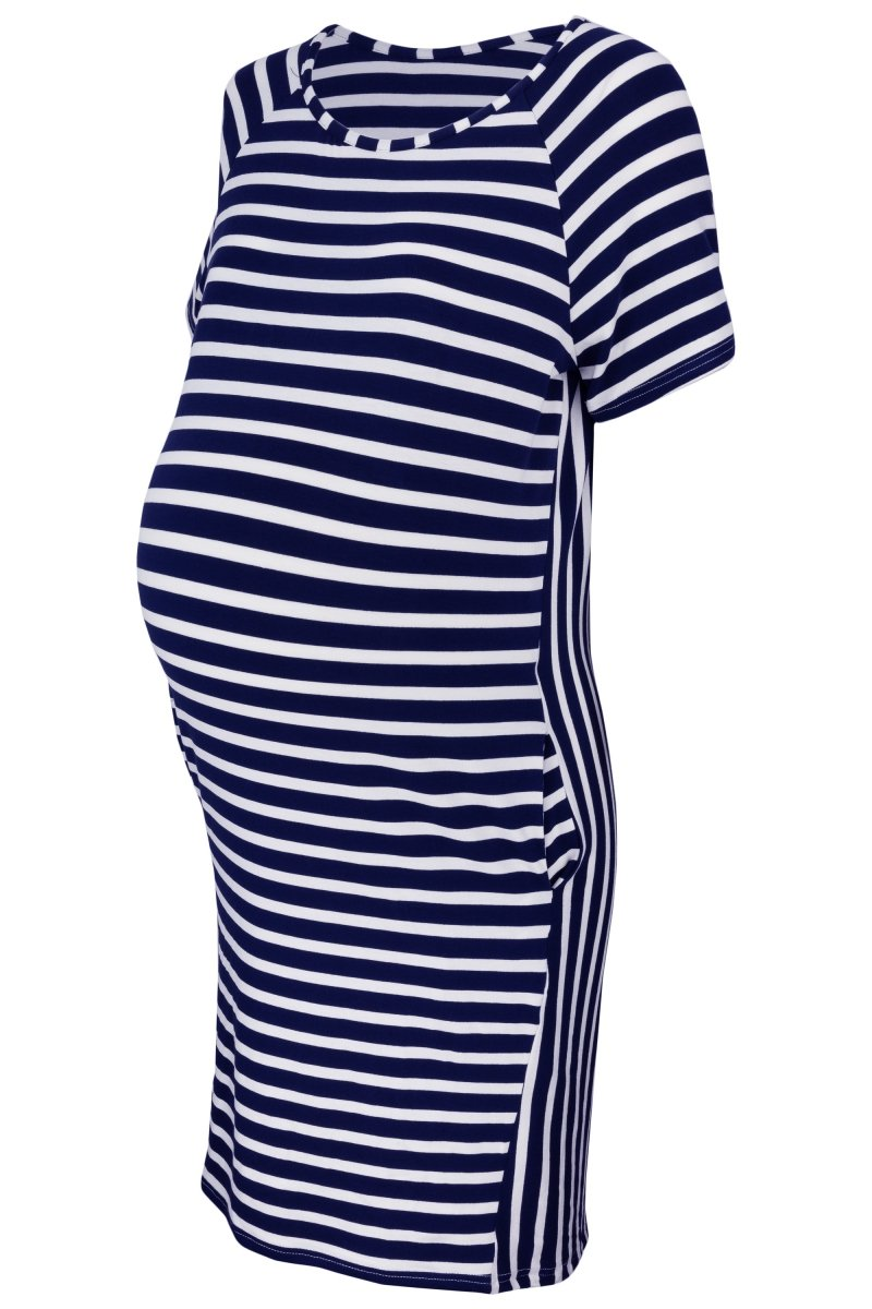 Sukienka ciążowa z krótkim rękawem i kieszeniami Oasi FPU