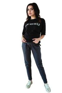 Spodnie ciążowe dresowe industrial slim 4133