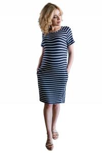 Sukienka ciążowa paski z kieszeniami 4201