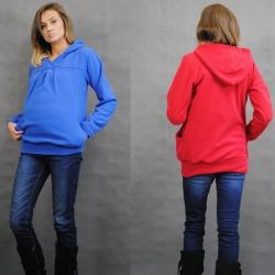 Rewalacyjna cieplutka bluza ciążowa z polaru 8285