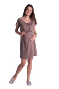 Ciążowa koszula nocna z krótkim rękawem 0890