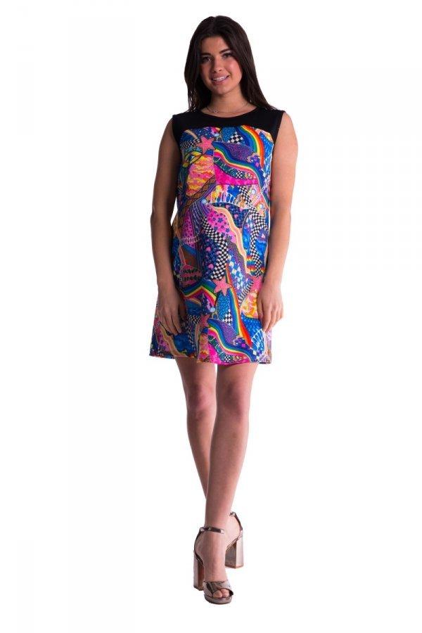 Kolorowa sukienka ciążowa 3617