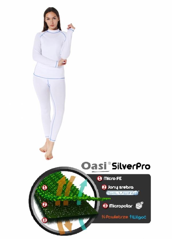 Bielizna termoaktywna OasiSilverPro 2.0 komplet damski 4423