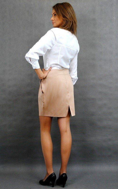 Spódnica z kieszeniami, zjawiskowa mini 9985