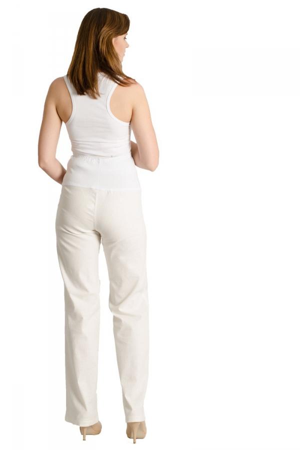 Lniane spodnie ciążowe proste 8230