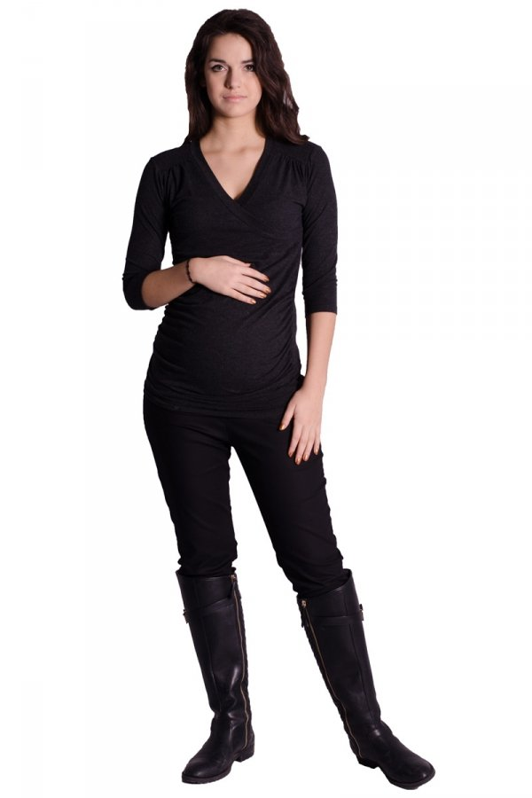 Kopertowa bluzka ciążowa