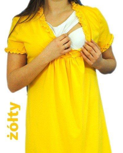 Koszula noc. ciążowa i do karmienia z falbanką 0531