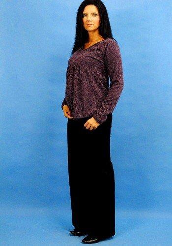 Wygodna modna jesienna bluzka ciążowa z angory 8094