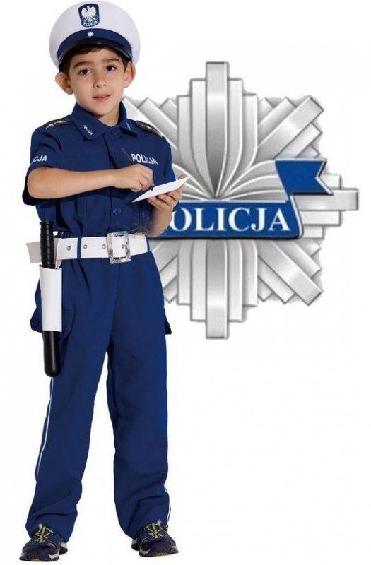 STRÓJ KARNAWAŁOWY POLICJANT DROGÓWKA 128