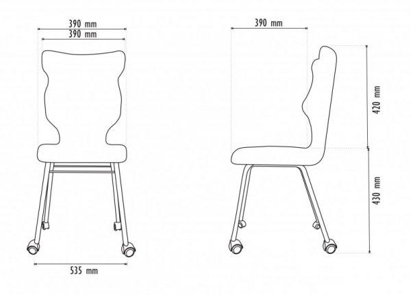 Krzesło RETE biały Luka 14 rozmiar 5 wzrost 146-176 #R1