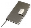 Notes A6 zamykany na szyfrowany zamek - papier chamois w linie oprawa Ekoskóra Eclisse szara