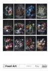 Kalendarz ścienny wieloplanszowy Food Art 2021 - exclusive edition - tylna okładka