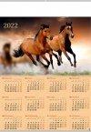 Kalendarz plakatowy B1/12 KONIE 2022