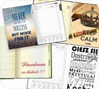 Wklejka dedykacja do kalendarza lub notesu