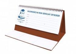 Kalendarz biurkowy EXCLUSIVE na rok szkolny 2019/2020 brązowy
