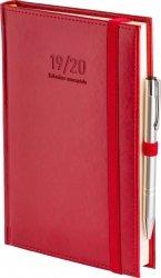 Kalendarz nauczyciela 2019/2020 format A5 układ dzienny oprawa skóropodobna NEBRASKA CZERWONA z obszyciem zamykana na gumkę + mocowanie na długopis