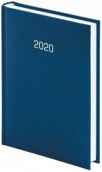 Kalendarz książkowy 2020 A5 dzienny papier biały perforacja oprawa ALBIT oprawa introligatorska granatowa