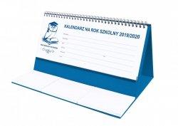 Kalendarz biurkowy EXCLUSIVE na rok szkolny 2019/2020 niebieski