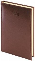 Kalendarz książkowy 2020 A5 dzienny papier chamois drukowane registry perforacja oprawa NEBRASKA brązowa - oprawa skóropodobna