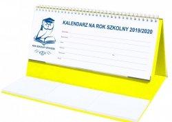 Kalendarz biurkowy EXCLUSIVE na rok szkolny 2019/2020 żółty