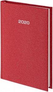 Kalendarz książkowy 2020 A4 dzienny papier biały drukowane registry oprawa NATURA bordowa