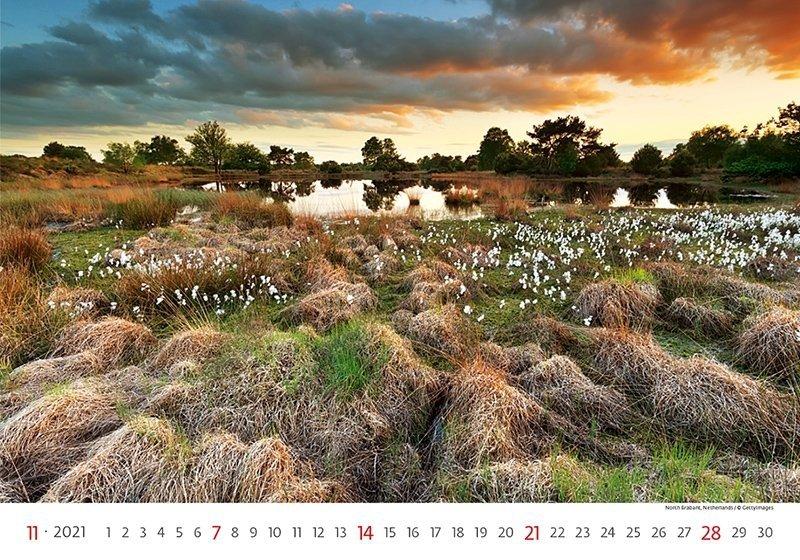 Kalendarz ścienny wieloplanszowy Landscapes 2021 - listopad 2021