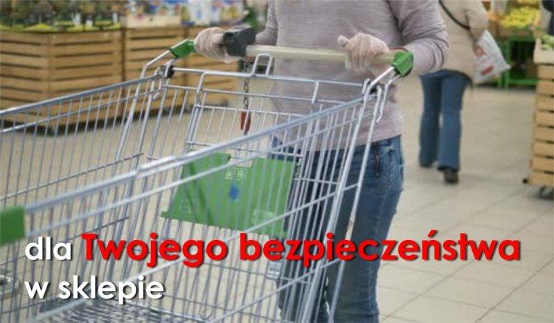 Rękawiczki jednorazowe HDPE do sklepu