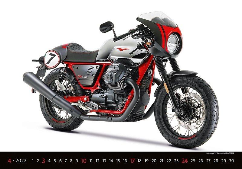 Kalendarz ścienny wieloplanszowy Motorbikes 2022 - kwiecień 2022