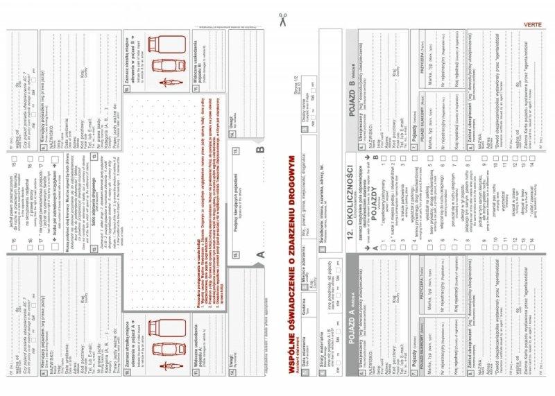 Kalendarz nauczyciela na rok szkolny 2020/2021 wspólne oświadczenie o zdarzeniu drogowym