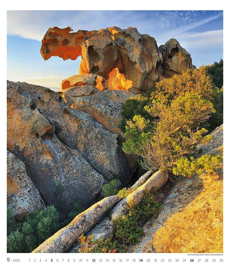 Kalendarz ścienny wieloplanszowy Geo Art 2021 - exclusive edition - wrzesień 2021