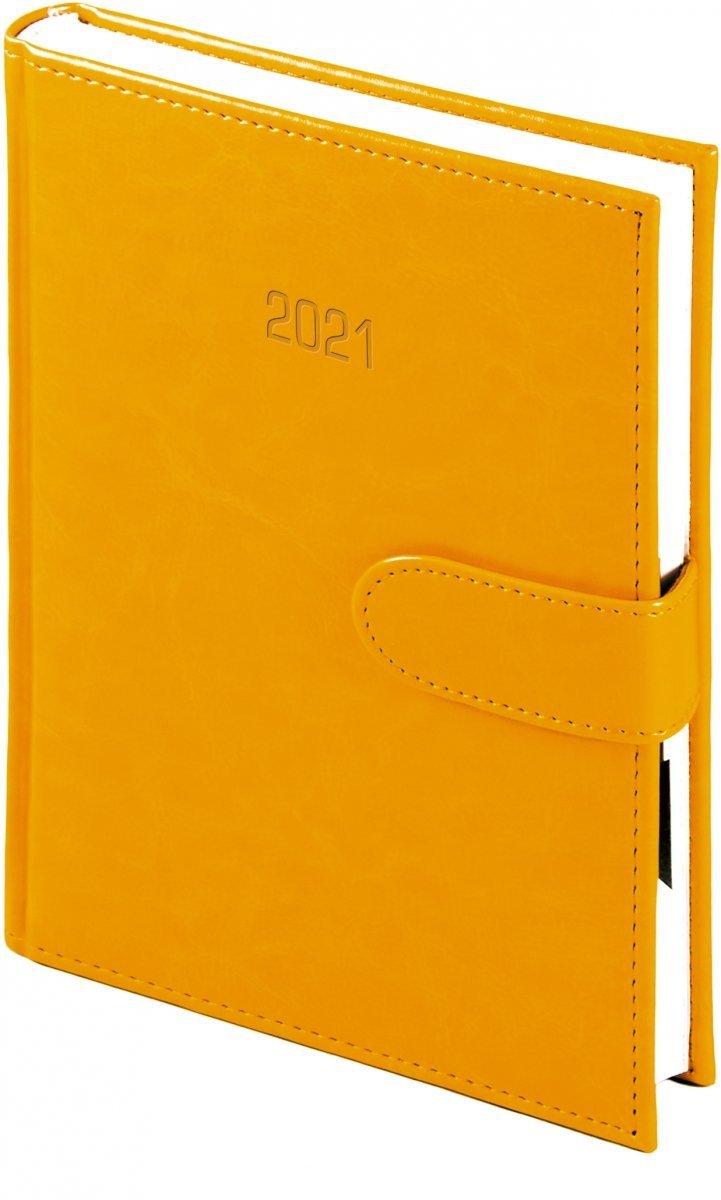 Kalendarz książkowy 2021 B5 dzienny oprawa MAGNESIAN - pomarańczowy oprawa skóropodobna zamykana na magnes