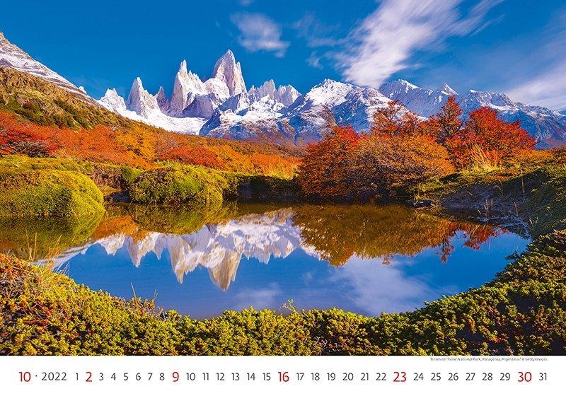 Kalendarz ścienny wieloplanszowy National Parks 2022 - październik 2022