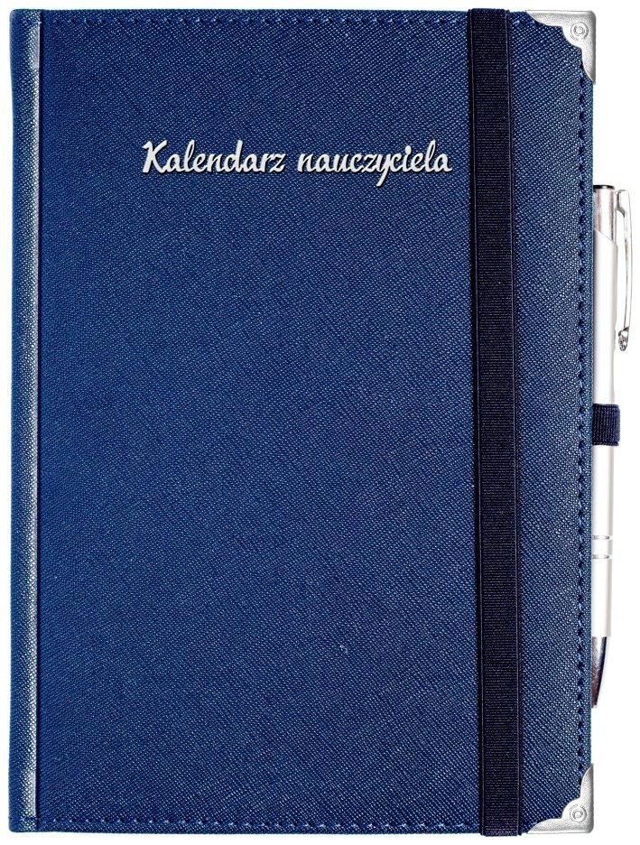 Długopis srebrny metalowy z niebieskim wkładem